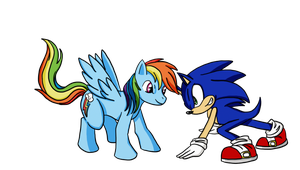 Rainbow Dash VS. Sonic The Hedgehog by Project-Rain-0013