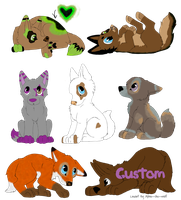 --CLOSED--Name your price adoptables! by AixaRawr