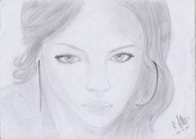 Rihanna Pencil Sketch by wondagirl