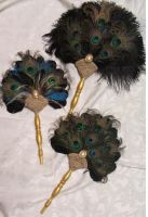 Peacock Feather Fans by Gypsywrytr