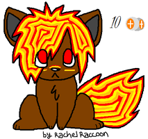 Fire wolf Pup adoptable by Newgrounds-People