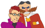 Commission from Phageous - Alexis and Eggman by Mx-Robotnik