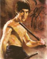 Bruce Lee olor Pastel 1 by monkeydawang