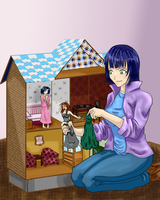 Commission_Doll house 2 by EmeraldSora