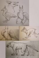 Creature Sketches 2 by SilentReaper