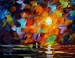 Sunset by Leonid Afremov by Leonidafremov