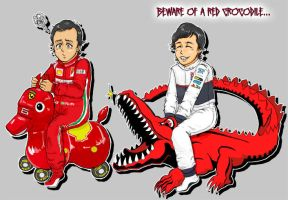 Felipe Massa VS Checo Perez by midzki