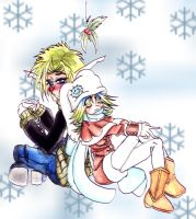 Jak and Keira snowy days by ShadeHellsing
