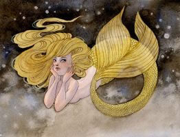 Gold Mermaid by reneenault