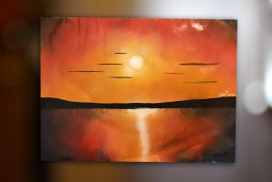 peinture de pistolet _ The Sun In The Water by mechakra