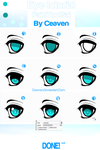Eye tutorial: Step by step by Ceaven