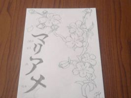 Branches of cherry blossoms by FMDrawings98
