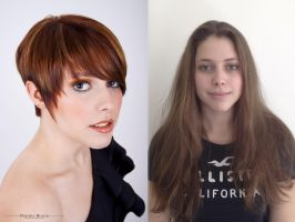 Isabell Before And After Haircut by 42pixel