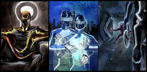 Tron sketch cards by Larbesta