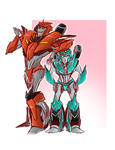 .:Knockout and Moonracer:. by JACKSPICERCHASE