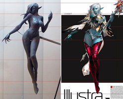 Lineage II Dark Elf WIP 1 by NullMaser