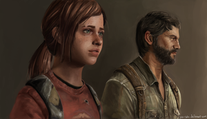 The Last Of Us Ellie and Joel by Xa-rah