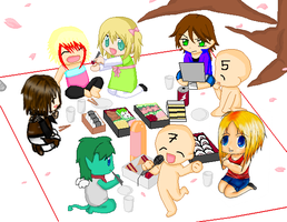 Collab Chibi Picnic .My Part. by xxDraconikaxx