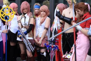 Lightning et Serah - final fantasy XIII Cosplay by AmyAGY
