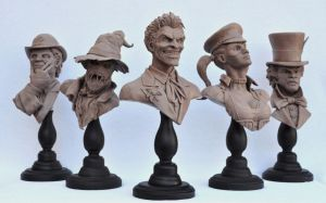 Batman Rogues Gallery Busts by AntWatkins