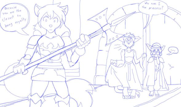Natani in Shining Armour (TwoKinds fanart) by TheMaskofaFox