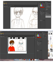 This is how I trace over my scanned comic on Flash by Magic-Kristina-KW