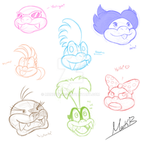 Koopaling Busts by Marks-Arts
