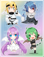 [Commission] lavender-ice -Chibis by Teirads
