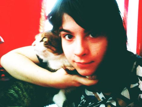me and my cat by GABRIELAGOGONEA