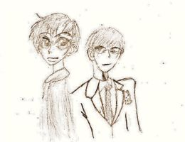 Haruhi and Kyoya by soulofchao