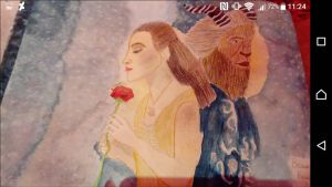 Beauty and the Beast 2017 Painting by LouiseArt2016