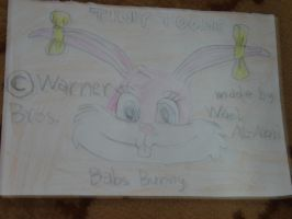 Babs Bunny's head by Wael-sa