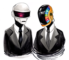 daft punk by bbluh