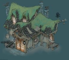 Colored Pirate Tavern by Brandonstarr
