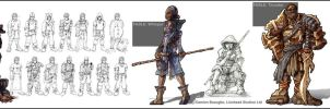 Fable hero designs by OmenD4