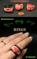 Carnivorous Halloween RINGS by pongojam