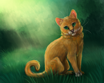 Squirrelflight in the forest (Warriors) by DiN-the-Painter