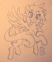 Derpy Hooves - Sketch by Kaweki