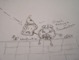 Sandwitch eating Clock by VenDuckie