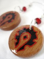 Wow Horde Earrings design 4 by Erisana