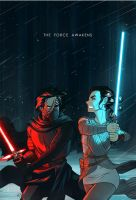 The Force Awakens (process GIF) by AndrewKwan