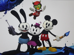 Epic Mickey 2:  Mickey Oswald Ortensia and Gus by jtwo22