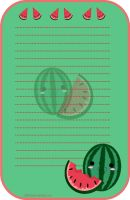 Stationery Watermelon by chii00