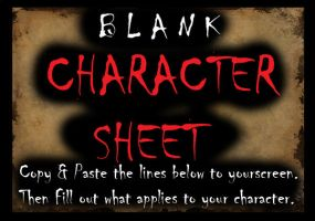BLANK CHARACTER SHEET for all by CastleVellgova