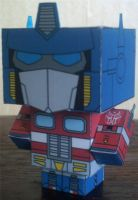 Optimus Prime Cubee by paperart