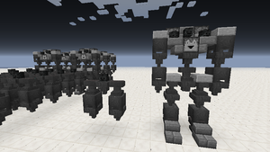 minecraft mini robots by 321kye