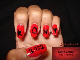 Kony 2012 - Nail Art by PSherman42WallabyWay