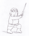 Chris as Luke Skywalker by simpsonsfan628