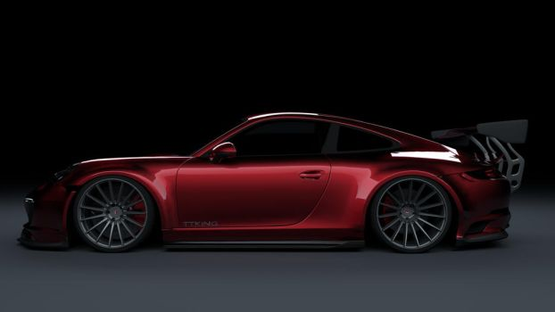 porsche 911 TTKiNG - CandyRed by TTKiNG13