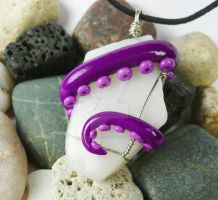 Octopus Beach Glass Necklace 4 by sagicornDreams